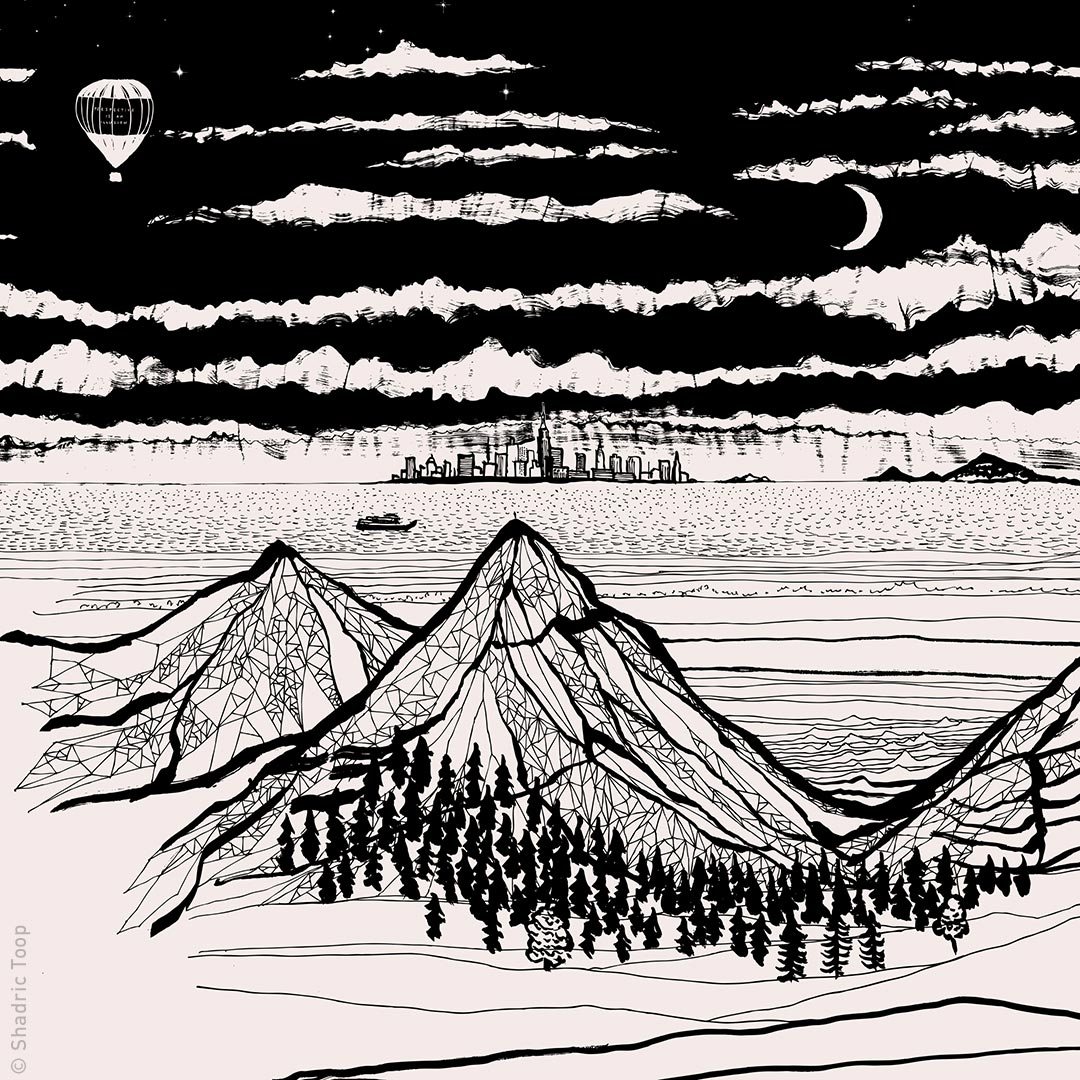 Mountain drawing - Illustration by Shadric Toop